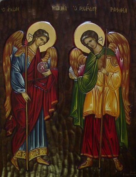 88-E-DO-Archangels Michael and Raphael